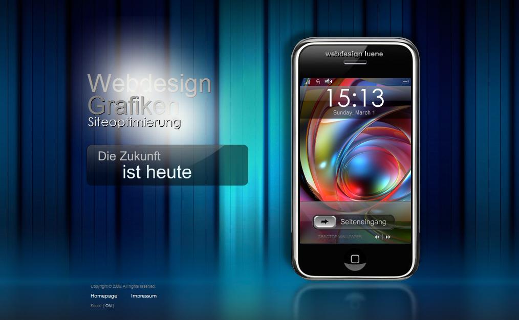 Website wie iPhone aufgebaut