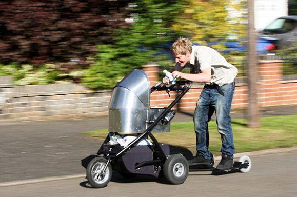 kinderwagen mit motor