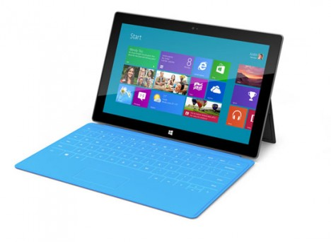 "Neues Tablet von Microsoft mit Smart-Touch-Tastatur-Cover namens ""Surface"""