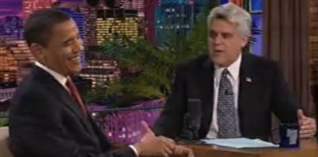 Barack Obama in der Tonight Show bei Jay Leno