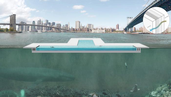 Pool new york schwimmbad im east river soll flusswasser reinigen - Pool filter reinigen ...