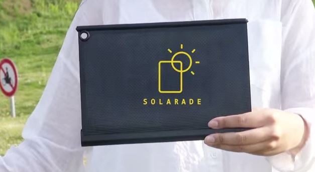 Solarade: Unterwegs mobil in der Sonne laden (Foto: Screenshot Youtube)