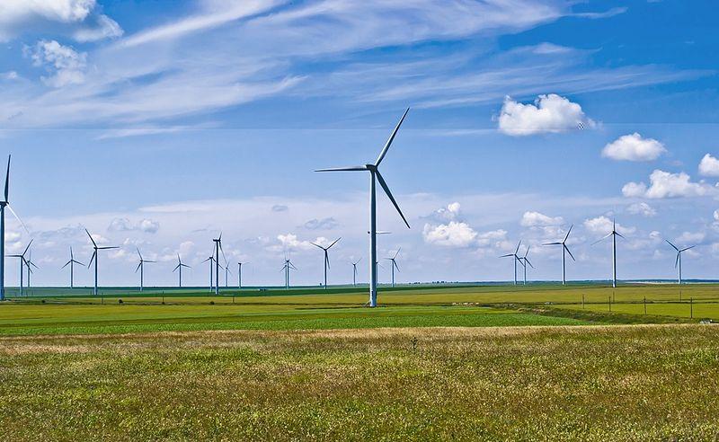 Viele Windräder bilden in Rumänien einen Windpark