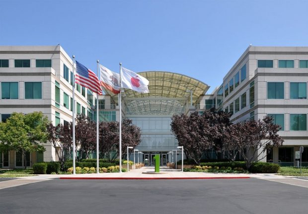 Auch auf dem Dach von Apples Firmensitz in Cupertino wurden Solarmodule installiert. Foto: Joe Ravi [CC BY-SA 3.0 (http://creativecommons.org/licenses/by-sa/3.0)], via Wikimedia Commons