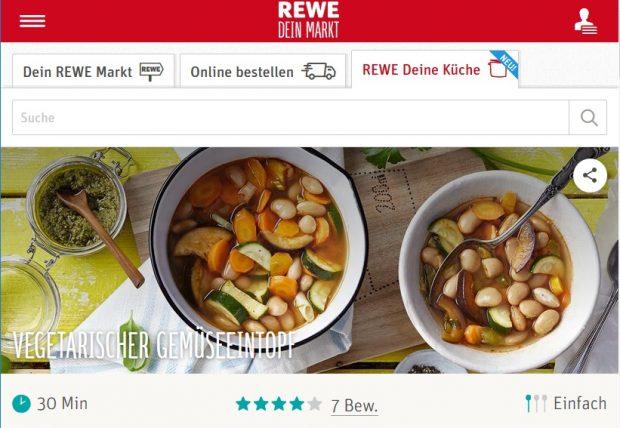 Deine Küche: Rewe liefert Lebensmittel für ausgewählte Rezepte