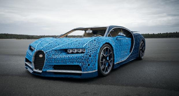lego: dieses lebensgroße modell des bugatti chiron kann sogar fahren!